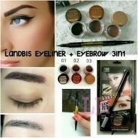 Landbis 3in1Eyebrow Gel + Eyeliner With Brush - Maskara Alis 3 in 1