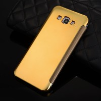 Flip electroplate case for Samsung Galaxy A8 - Gold