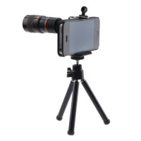 TELESCOPE LENS 8X OPTICAL ZOOM + UNIVERSAL CLAMP + CASE IPHONE 5/5S