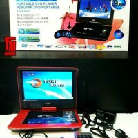 DVD Portable Layar 9.88 Inch Tori Support TV CH 100% Original