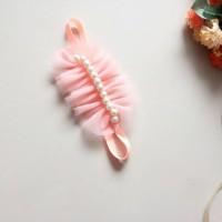 harga Bando bayi bandana bayi baby headband baby Tulla Pearl Peach Tokopedia.com