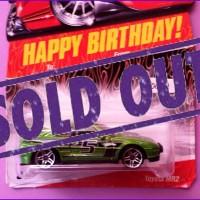 Toyota MR2 Rally - Hot Wheels 2008 Gift Cars Happy Birthday