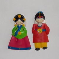 Magnet Kulkas Korean Couple, Souvenir Unik Korea