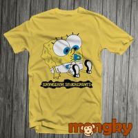 Baju Kaos Kuning Desain Spongebob Keren