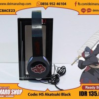 [HS Akatsuki Black] Headphone Headset Anime Naruto Itachi Hitam Awan