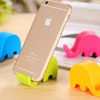 Stand handphone HP plastik bentuk gajah lucu - KCR003