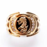 Cincin Pria Perak Sterling Berlapiskan Emas dan Rose Gold 2 (Free Box)