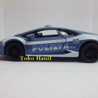 Diecast Miniatur Replika Mobil Polisi Lamborghini Huracan Italia
