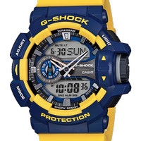 CASIO G-Shock Ga-400-9BDR Yellow/Blue Analog & Digital Watch