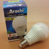 ARASHI EMERGENCY 9 W LAMPU LED Tahan 5 jam with baterai 2000mAh