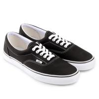 Vans U Era Core Hitam / Navy Sneaker Shoes Original