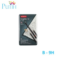 Pensil Derwent 12 Graphic Hard Pencil Set