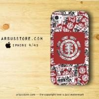 Element Rocks Skateboarding Sticker iPhone Case 4/4s 5/5s 5c 6/6s Plus