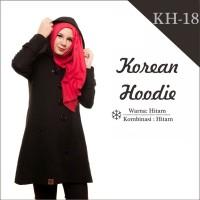 Jual Jaket Wanita Korea Muslimah Hoodie Blazer Ribbon Terbaru Terlaris KH18 Murah