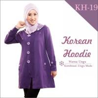 Jual Jaket Wanita Korea Muslimah Hoodie Blazer Ribbon Terbaru Terlaris KH19 Murah