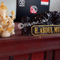 Papan Nama Meja Ukiran Bali Motif Rangda
