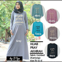 hijab pray akhira, dress, baju wanita, dress panjang