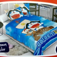 Selimut Bulu Lembut ( Soft Panel Blanket ) Motif Doraemon Sailor