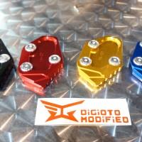 sepatu / extension Standar Samping Yamaha R25 / MT -25 CNC ALMU