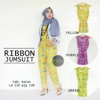 ribbon jumsuit batik ori / supplier baju