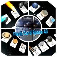 Flash Card Space 4D - Kartu Animasi Belajar Jelajah Luar Angkasa