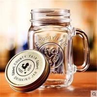 Jual DRINKING JAR IMPORT / MUG / MANSON / GELAS KACA HARVEST 450ML Murah
