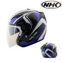 harga HELM NHK K2 GLADIATOR DOUBLE VISOR (WHITE BLUE) Tokopedia.com