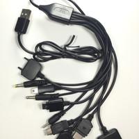 Kabel Cumi 10in1 10 port Universal Semua Hp 10 konektor USB cable