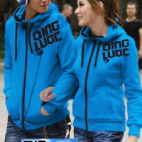 Jaket Couple / Baju Pasangan / jacket couple Qing / oren biru hijau