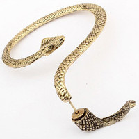 Korean Style Gold Snake Stud Ear - Anting Ular - 1piece