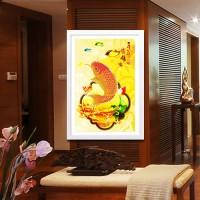 harga Lukisan DIY Diamond Painting Ikan Gold/ Lukisan Kerajinan Tangan Tokopedia.com