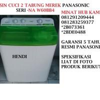 MESIN CUCI 2 TABUNG MEREK PANASONIC SERI NA W60BB