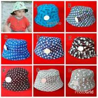 Topi bucket hat anak warna warni motif karakter gambar kartun