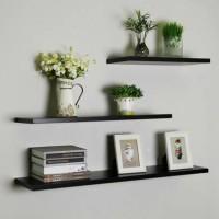 Floating Shelf 10x30cm ( Rak Dinding/ Rak Melayang)