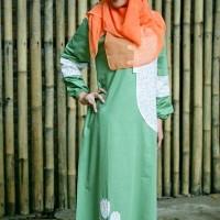 Baju Gamis Katun Hijau Nibras Murah Online NB 58