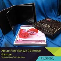 album foto sankyo 20 sheet (lembar) black/white
