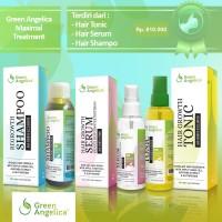 Jual paket penumbuh rambut herbal alami green angelica. obat kebotakan aman Murah