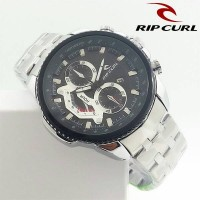 harga Jam Tangan Pria / Cowok Ripcurl Chronomaster Rantai Silver Black Tokopedia.com