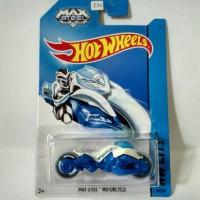 Hot Wheels MAX STEEL Motorcycle White Blue