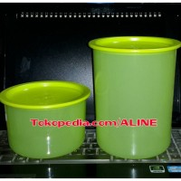 Tupperware - ONE TOUCH RAINBOW SET HIHAU (2) MALAYSIA - TOPLES