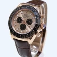 Jam Tangan Rolex Daytona Tali Kulit  ( Bvlgari,Ripcurl,Diesel,Invicta)