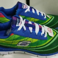 Skechers Skech Knit Green Blue Running