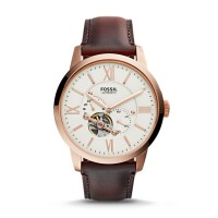 Fossil ME3105 Townsman Automatic Dark Brown Leather Watch