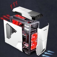 SEGOTEP GAMING CASE WARSHIP EVO - White - with Fan Controller