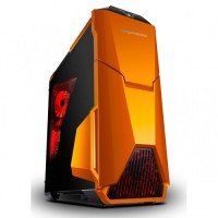 SEGOTEP GAMING CASE WARSHIP EVO - Orange - with Fan Controller