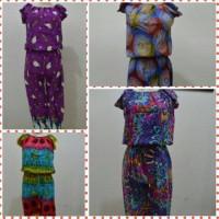 Jumpsuit Panjang/piyama/baju Tidur/daster (warna Dan Motif Mix)
