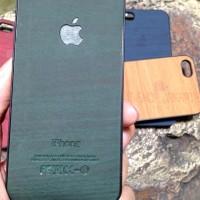 Jual CASING WOOD CASE HP IPHONE 4,4S / 5,5S / 6 SLIM KAYU - MILKYWAY Murah