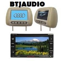 "PAKET TV MOBIL DOUBLEDIN 6,95"" + HEADREST MONITOR + ANTENNA TV INDOOR"