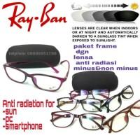 paket frame kacamata import dgn lensa anti radiasi minus&non minus
