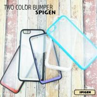 TWO COLOR BUMPER SPIGEN for IPhone 4/4s, 5/5s, 6/6s dan 6+